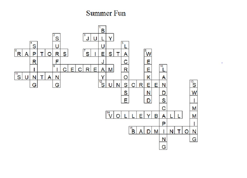 ANSWER KEY TO MONDAYS CROSSWORD PUZZLE - CanPacific's Blog